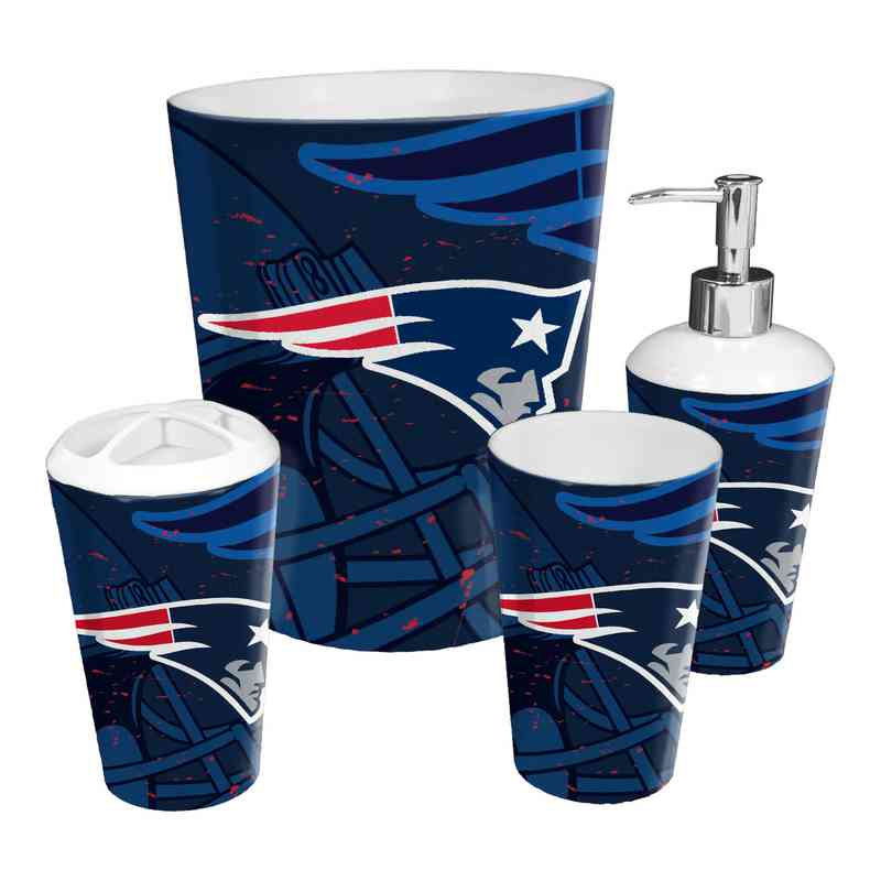 1NFL951000076RET: NFL 951 Patriots 4pc Bath Set