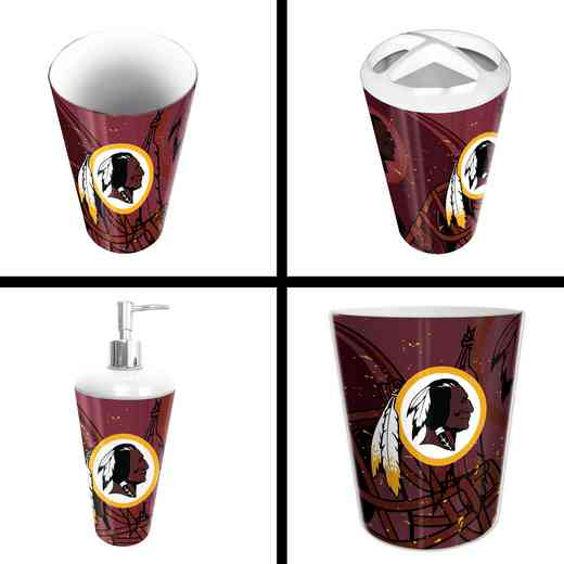 1NFL951000020RET: NFL 951 Redskins 4pc Bath Set