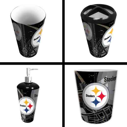 1NFL951000078RET: NFL 951 Steelers 4pc Bath Set