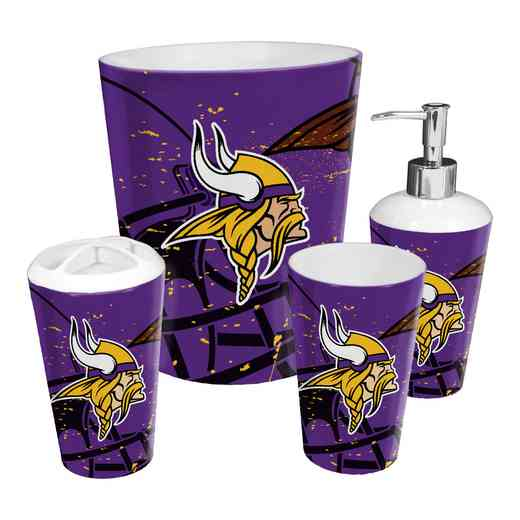 1NFL951000023RET: NFL 951 Vikings 4pc Bath Set