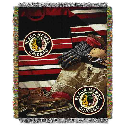 1NHL051020004RET: NW VINTAGE TAPESTRY THROW, BLACKHAWKS