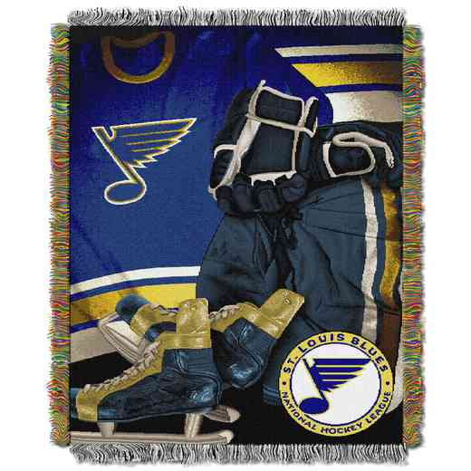 1NHL051020021RET: NW VINTAGE TAPESTRY THROW, BLUES