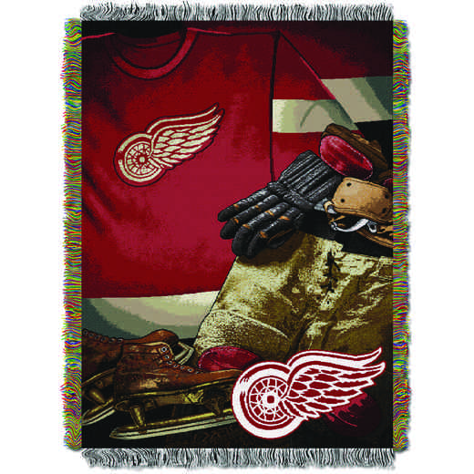 1NHL051020006RET: NW VINTAGE TAPESTRY THROW, REDWINGS