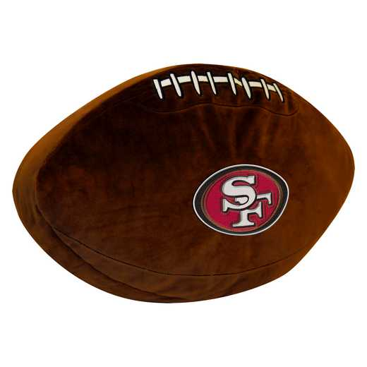 1NFL199000013RET: NW NFL 3D SPORTS PILLOW, 49ERS