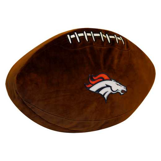 1NFL199000004RET: NW NFL 3D SPORTS PILLOW, BRONCOS