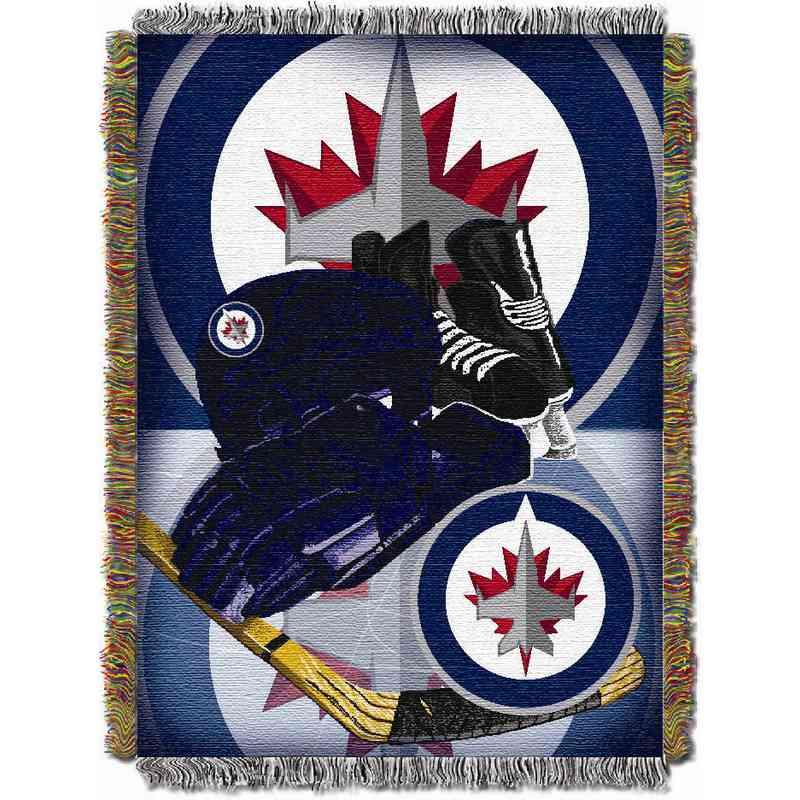 Winnipeg Jets Drop Pass Tapestry