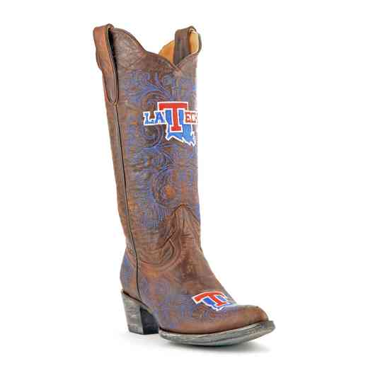 "Women's 13"" Louisiana Tech Bulldogs Tailgate Cowgirl Boots by Gameday Boots"