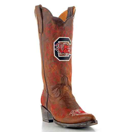 "Women's 13"" University of South Carolina Gamecocks Brass Tailgate Cowgirl Boots by Gameday Boots"