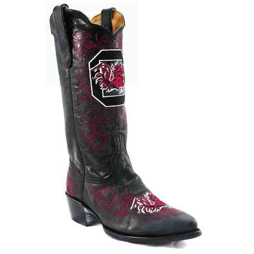 "Women's 13"" University of South Carolina Gamecocks Black Tailgate Cowgirl Boots by Gameday Boots"