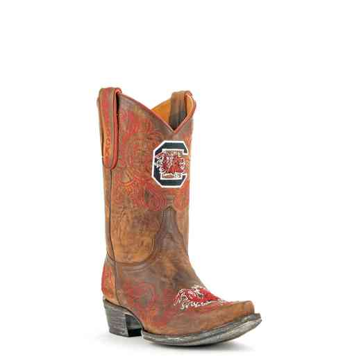 "Women's 10"" University of South Carolina Gamecocks Brass Tailgate Cowgirl Boots by Gameday Boots"