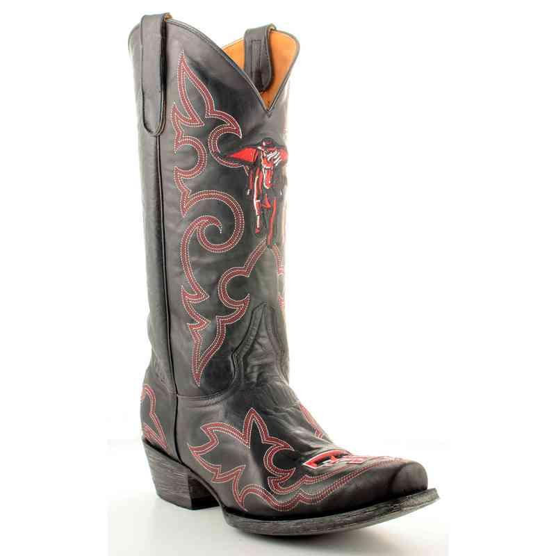 Men's Texas Tech Masked Rider Black Tailgate Cowboy Boots
