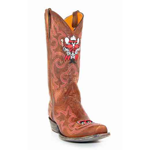 Men's Texas Tech Red Raiders Brass Tailgate Cowboy Boots by Gameday Boots