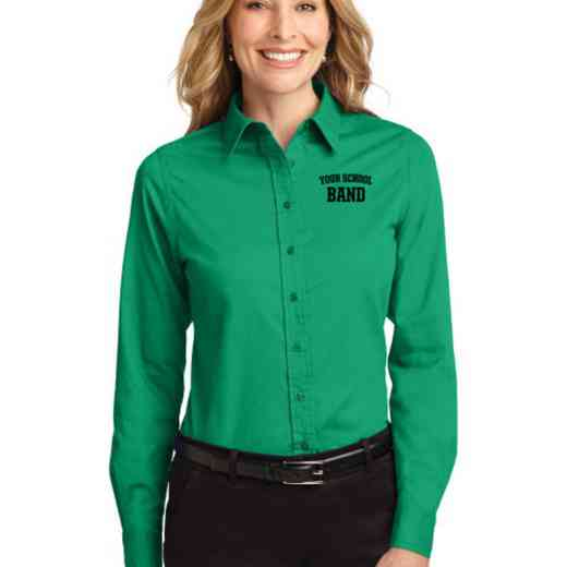 Band Easy Care Embroidered Long Sleeve Oxford