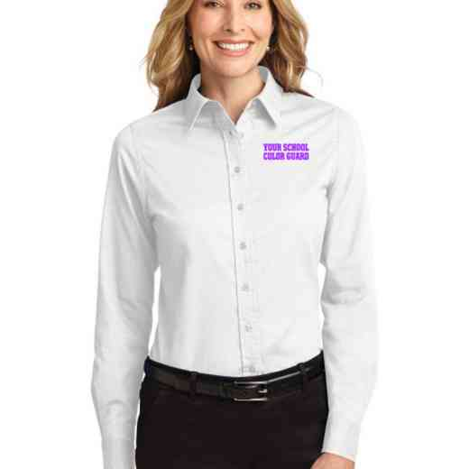 Color Guard Easy Care Embroidered Long Sleeve Oxford