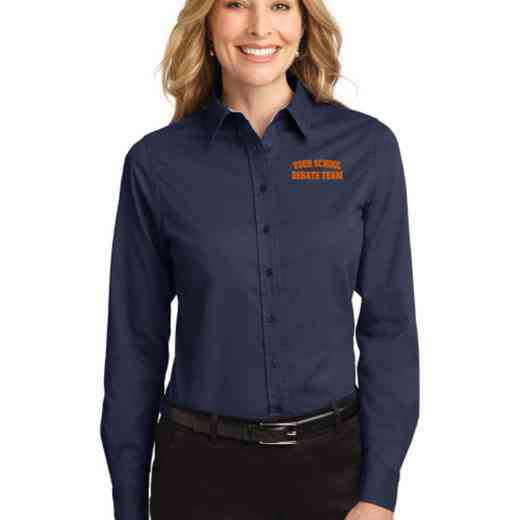 Debate Team Easy Care Embroidered Long Sleeve Oxford