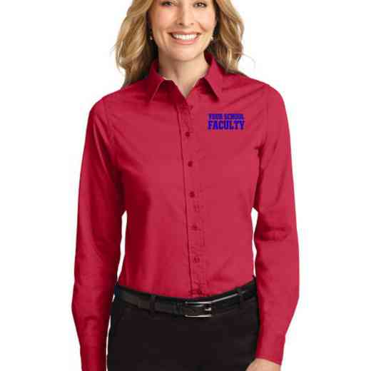 Faculty Easy Care Embroidered Long Sleeve Oxford