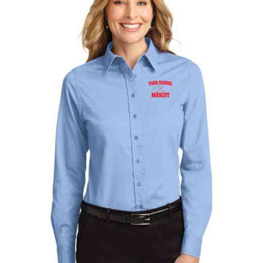 Hockey Easy Care Embroidered Long Sleeve Oxford