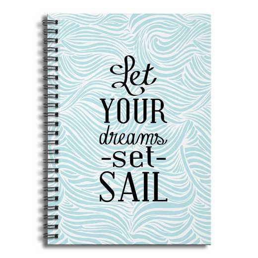 4628-AW: Let Your Dream Set Sail Notebook