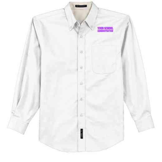 Administration Easy Care Embroidered Long Sleeve Oxford