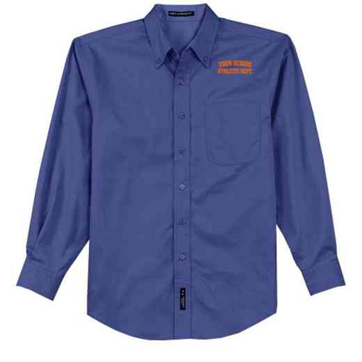 Athletic Department Easy Care Embroidered Long Sleeve Oxford