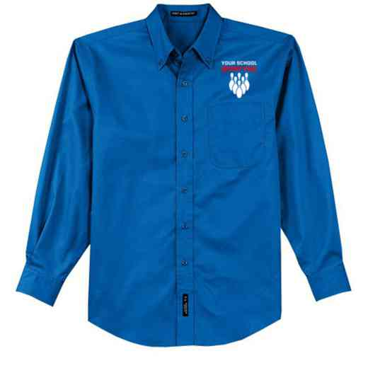 Bowling Easy Care Embroidered Long Sleeve Oxford