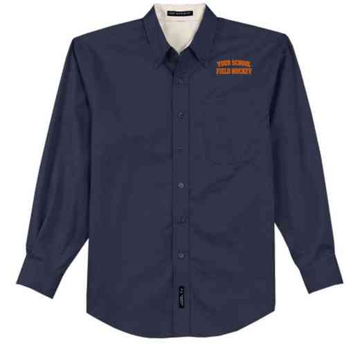 Field Hockey Easy Care Embroidered Long Sleeve Oxford