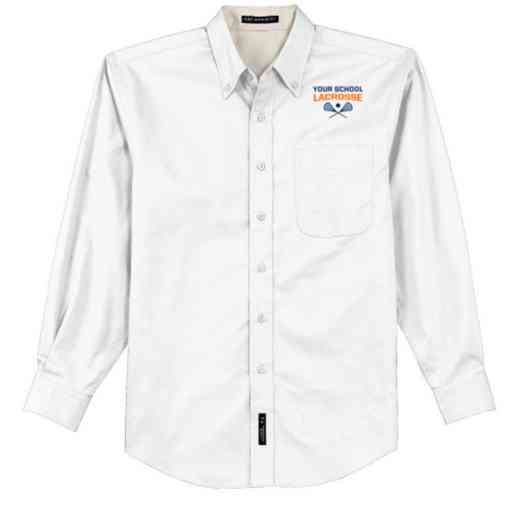 Lacrosse Easy Care Embroidered Long Sleeve Oxford
