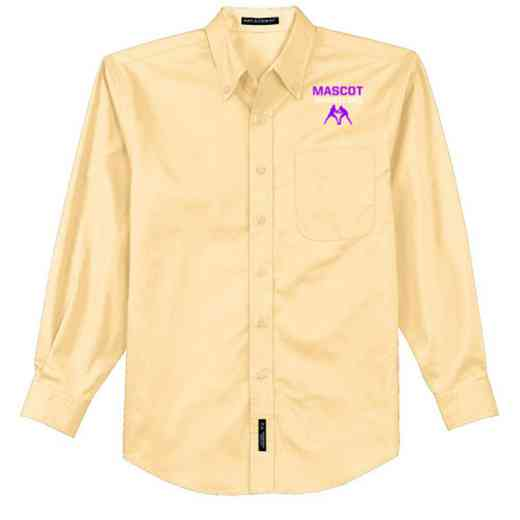 Wrestling Easy Care Embroidered Long Sleeve Oxford