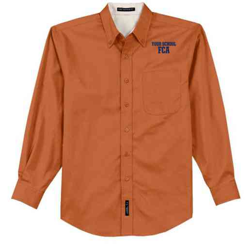 FCA Easy Care Embroidered Long Sleeve Oxford