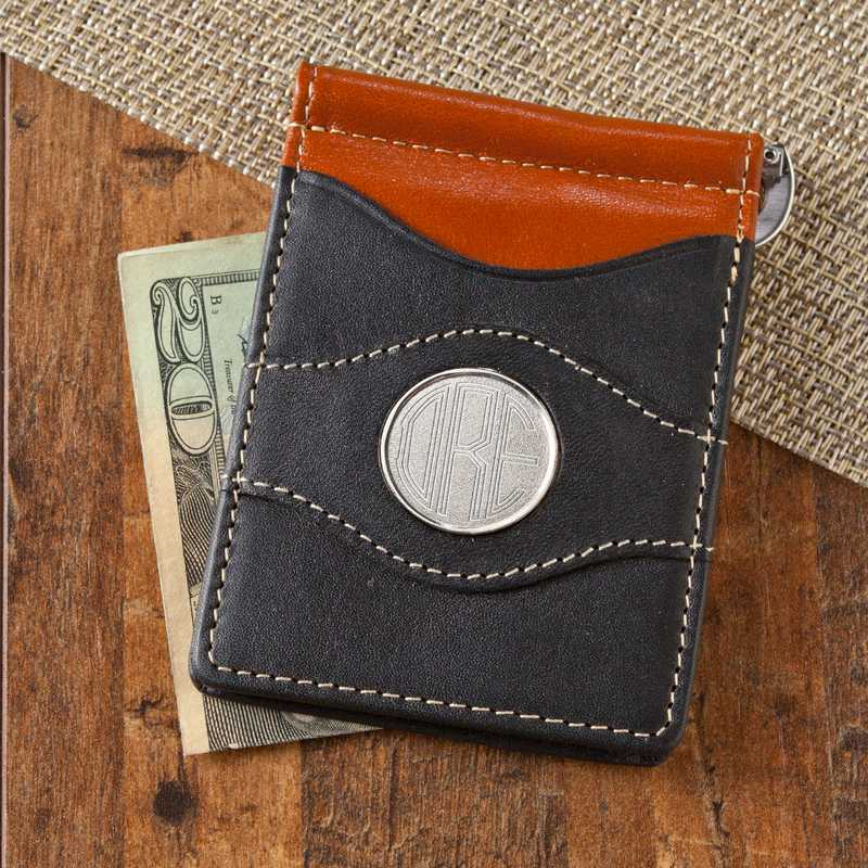 e3aa563eb2db8 GC1261  Personalized Two-Toned Leather Wallet
