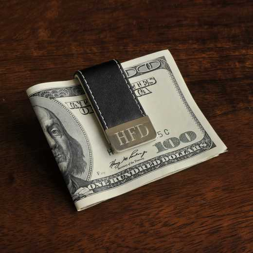 GC832: Personalized Gentry Leather Money Clip