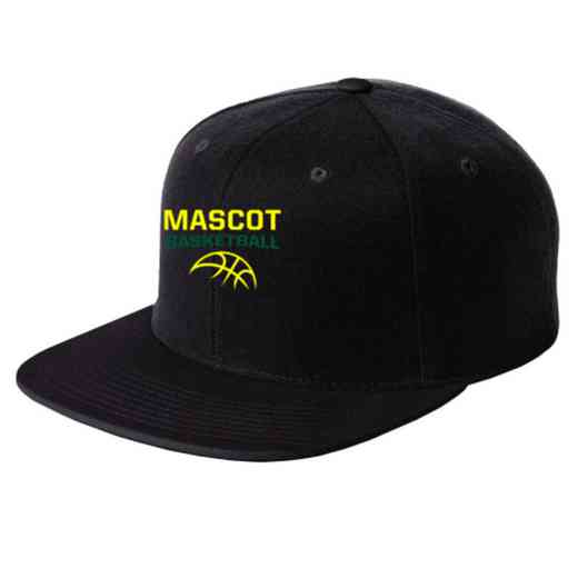 Basketball Embroidered Sport-Tek Flat Bill Snapback Cap