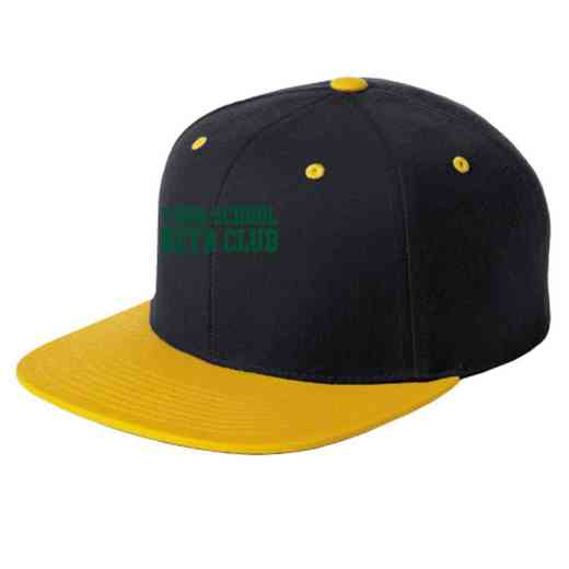 Beta Club Embroidered Sport-Tek Flat Bill Snapback Cap