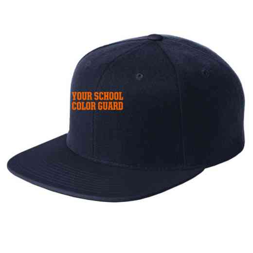Color Guard Embroidered Sport-Tek Flat Bill Snapback Cap