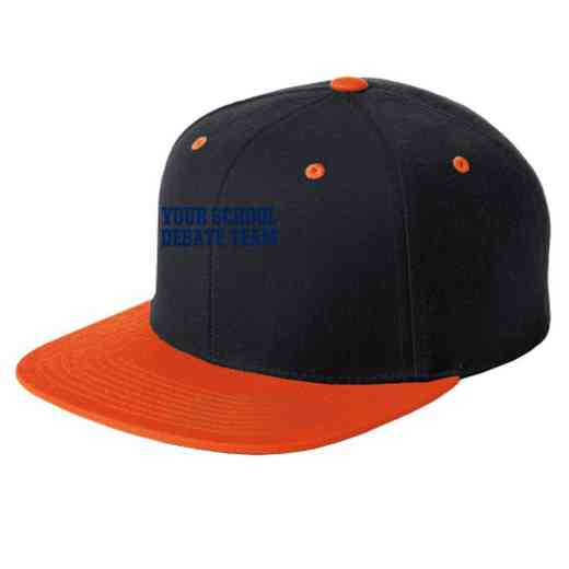 Debate Team Embroidered Sport-Tek Flat Bill Snapback Cap