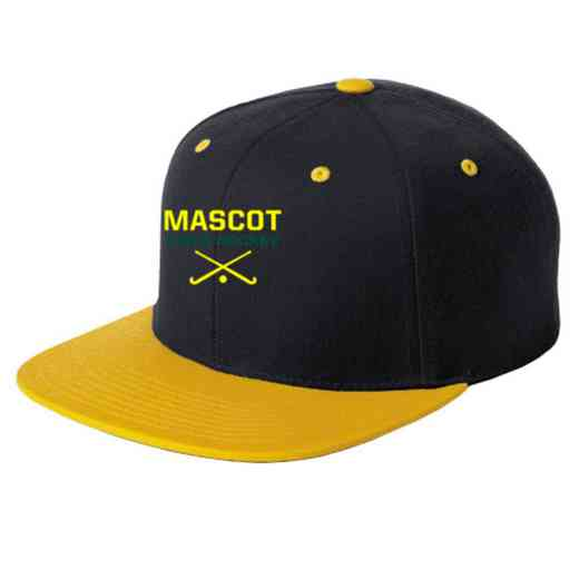 Field Hockey Embroidered Sport-Tek Flat Bill Snapback Cap