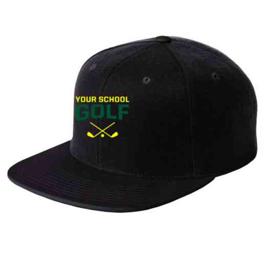 Golf Embroidered Sport-Tek Flat Bill Snapback Cap