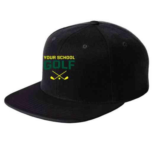 Golf Embroidered Sport-Tek Flat Bill Snapback Cap 4bdb735f322c