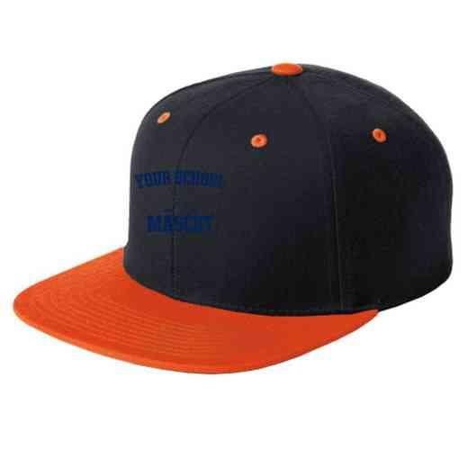 Hockey Embroidered Sport-Tek Flat Bill Snapback Cap