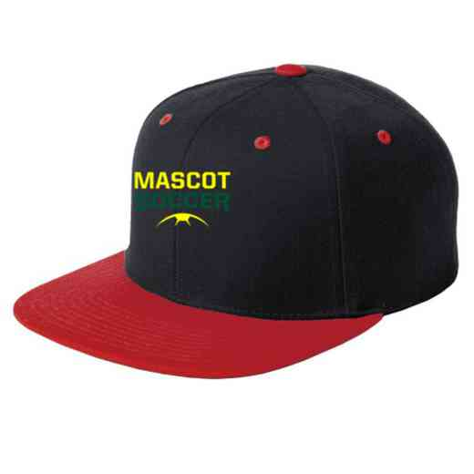 Soccer Embroidered Sport-Tek Flat Bill Snapback Cap