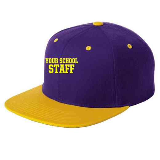 Staff Embroidered Sport-Tek Flat Bill Snapback Cap