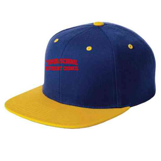 Student Council Embroidered Sport-Tek Flat Bill Snapback Cap