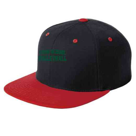 Volleyball  Embroidered Sport-Tek Flat Bill Snapback Cap