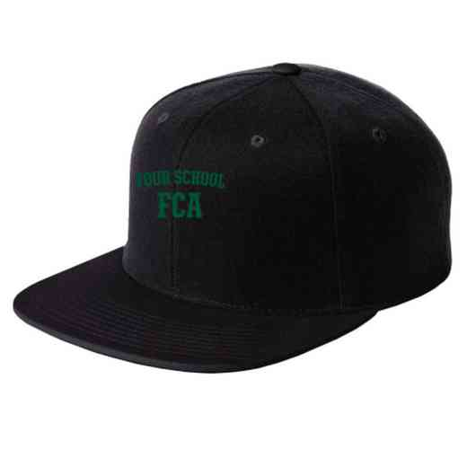 FCA Embroidered Sport-Tek Flat Bill Snapback Cap