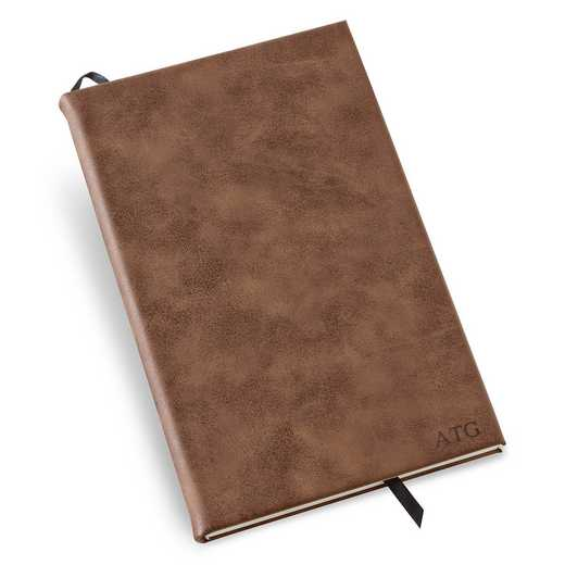 GC1676 DEBOSS: Personalized Rustic Faux Leather Journa