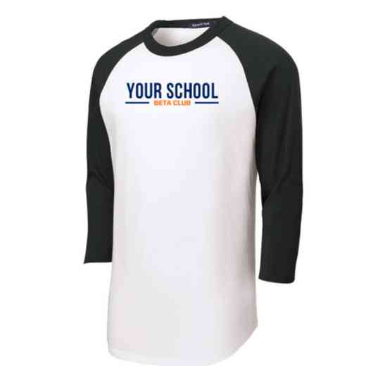 Beta Club Adult Sport-Tek Baseball T-Shirt