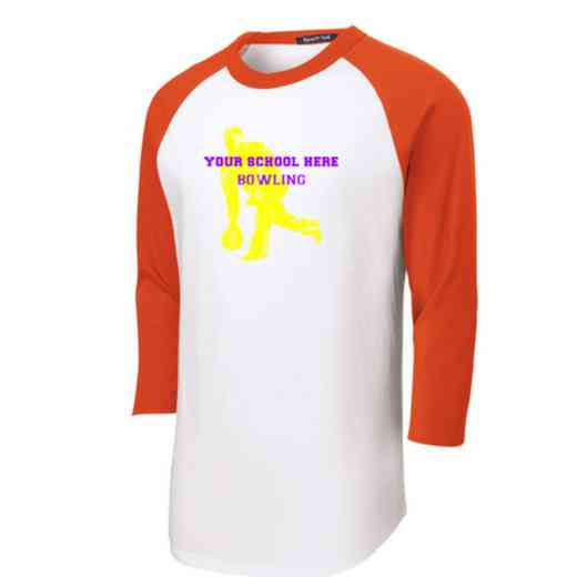 Bowling Adult Sport-Tek Baseball T-Shirt