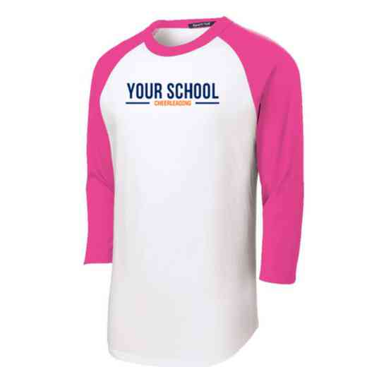 Cheerleading Adult Sport-Tek Baseball T-Shirt