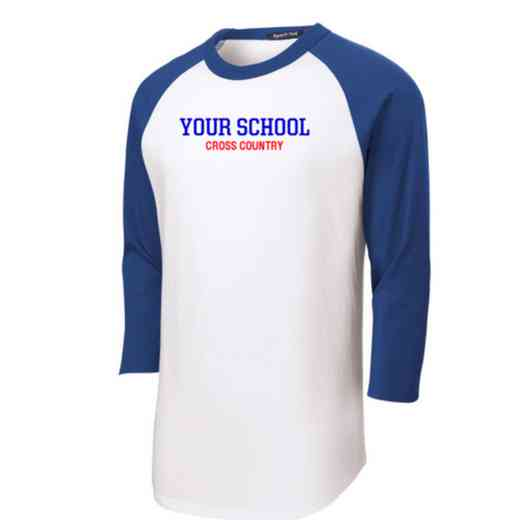 Cross Country Adult Sport-Tek Baseball T-Shirt