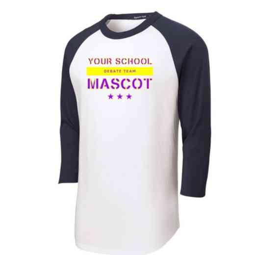 Debate Team Adult Sport-Tek Baseball T-Shirt
